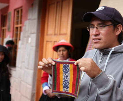 Alejandro explains the weaving patterns