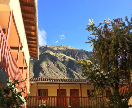 The view from our hotel in Ollantaytambo