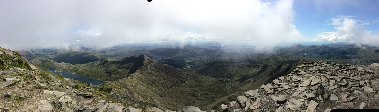 View from the top of Snowdon